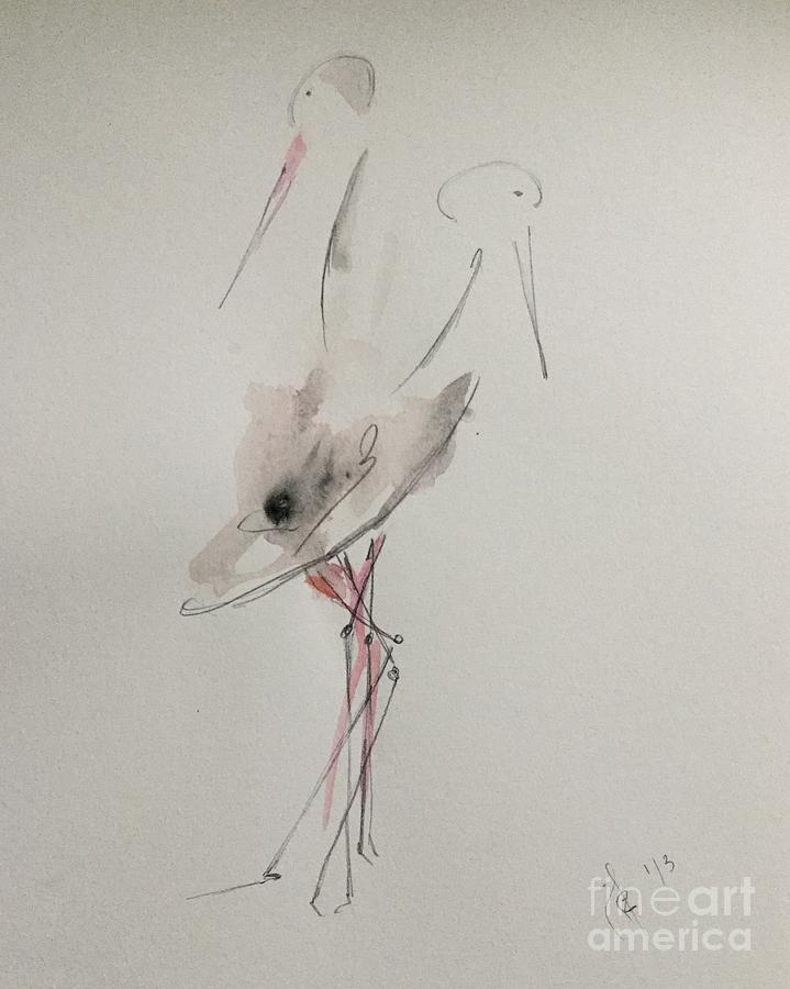 Stork Connection Mixed Media
