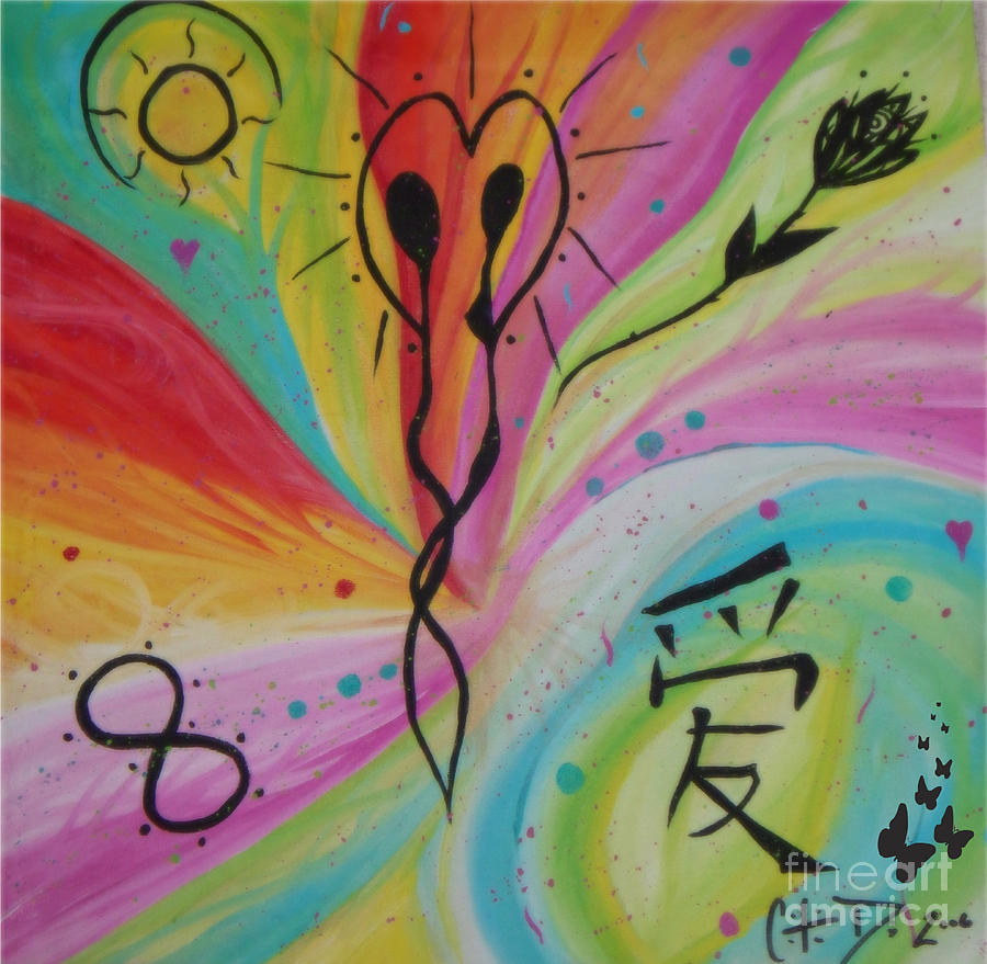 Evel Painting - Forever In Love by Sacred  Muse
