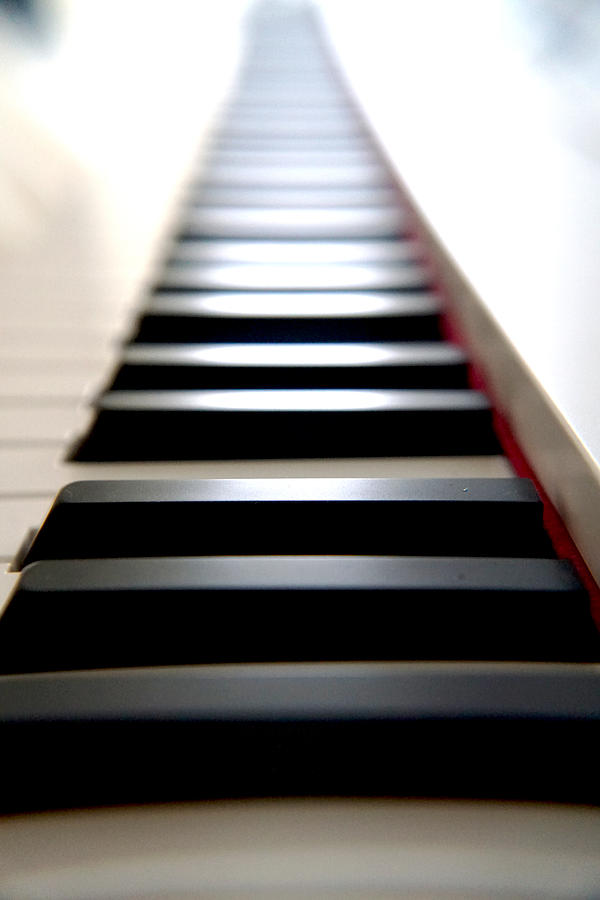 Piano Photograph - Forever Piano by William Hall