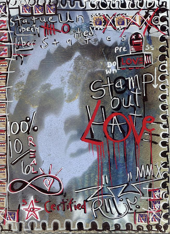 Contemporary Painting - Forever Stamp by Robert Wolverton Jr