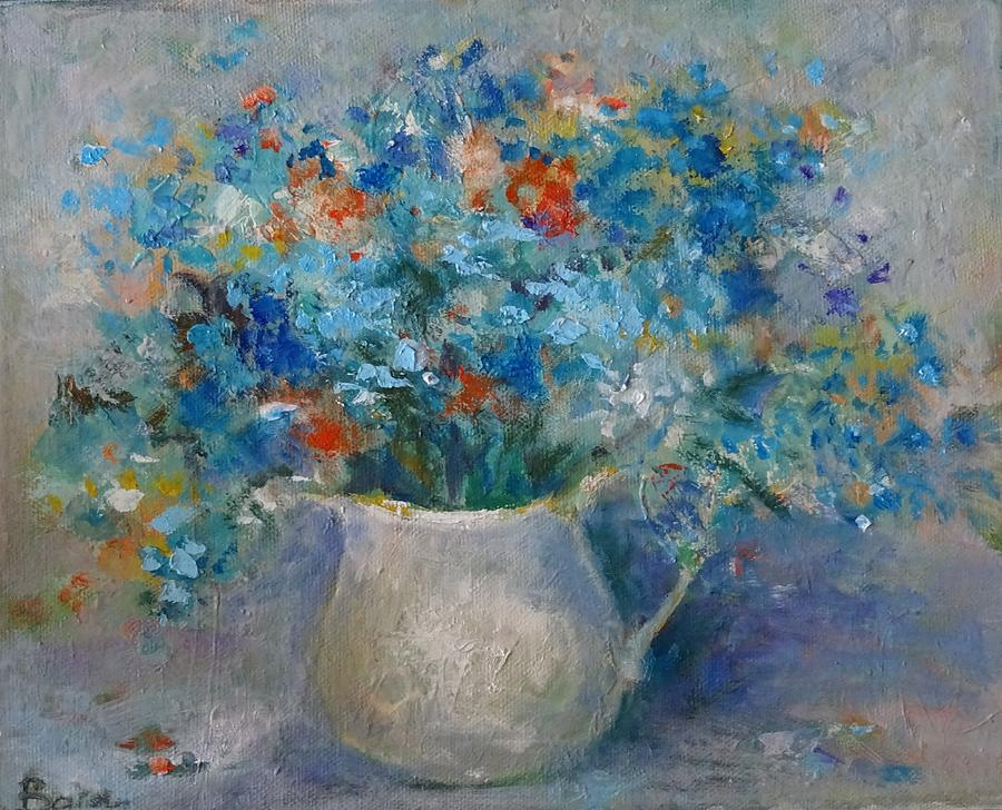 Forget me not flower painting by natalia bardi for Fine art paintings for sale online
