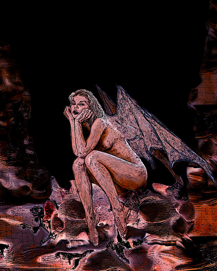 Angel Painting - Forgotten Angel by Tbone Oliver