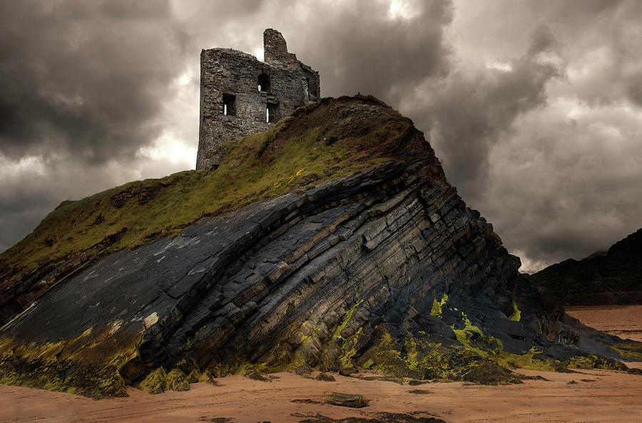 Ballybunion Photograph - Forgotten Castle In Ballybunion by Jaroslaw Blaminsky