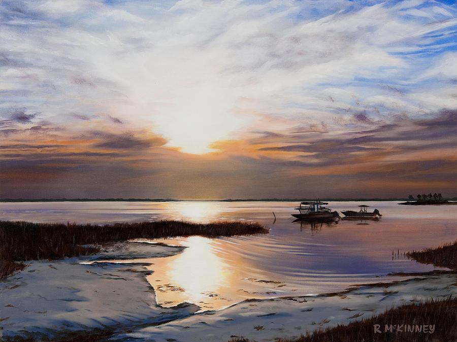 Sunset Painting - Forgotten Coast by Rick McKinney