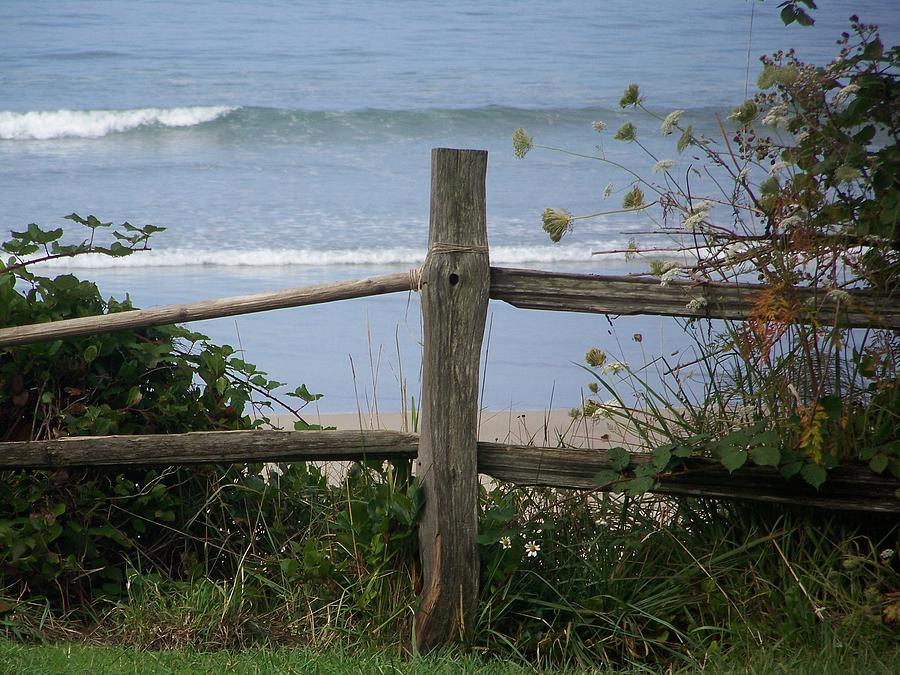 Fence Photograph - Forgotten Getaway by Angi Parks