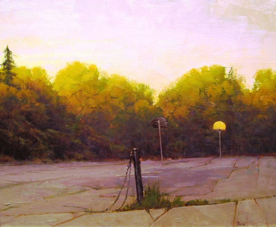 Landscape Painting - Forgotten Hoops by Martin Poole