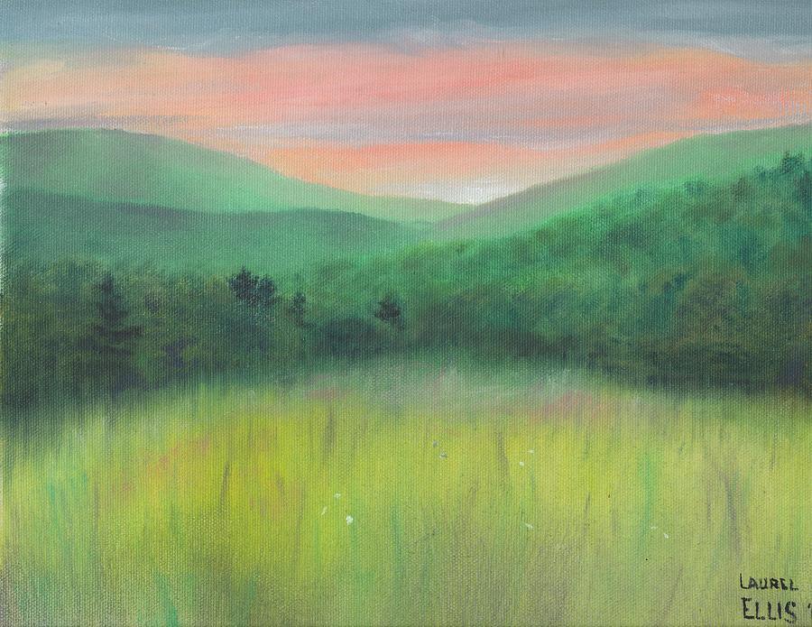Landscape Painting - Forgotten Meadow by Laurel Ellis