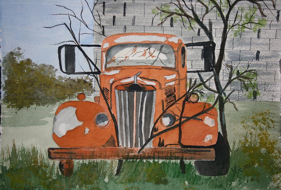 Truck Painting - Forgotten by Michele Turney