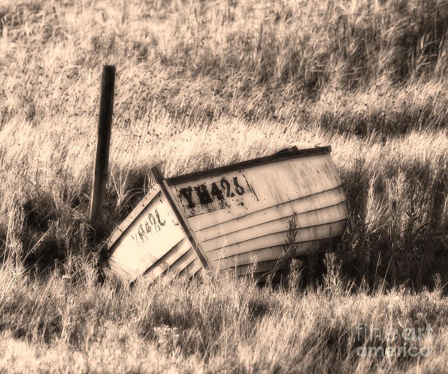 Boat Digital Art - Forgotten by Nigel Bangert