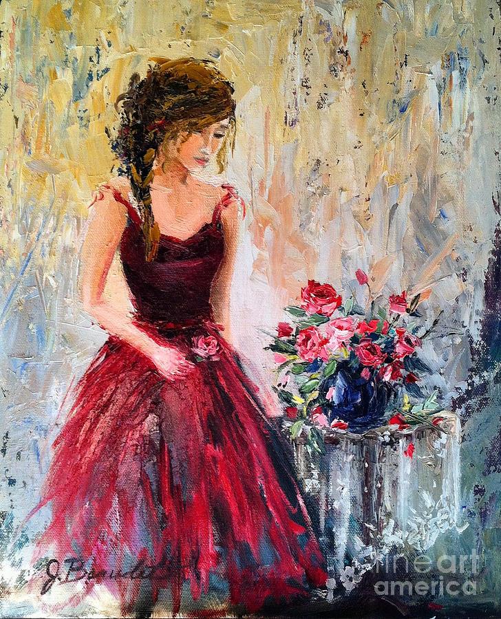 Forgotten Rose Painting by Jennifer Beaudet