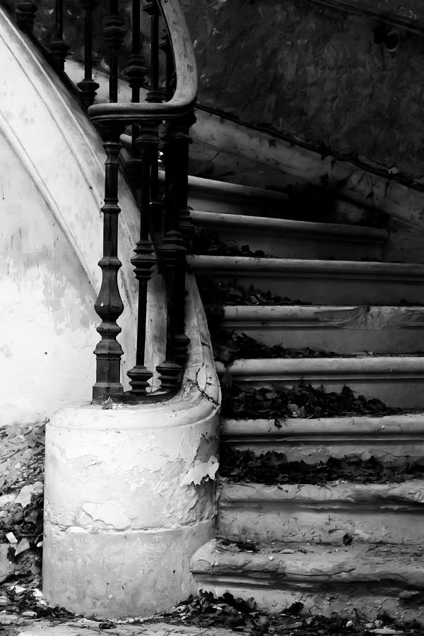 Neglected Photograph - Forgotten Stairs by Georgia Fowler