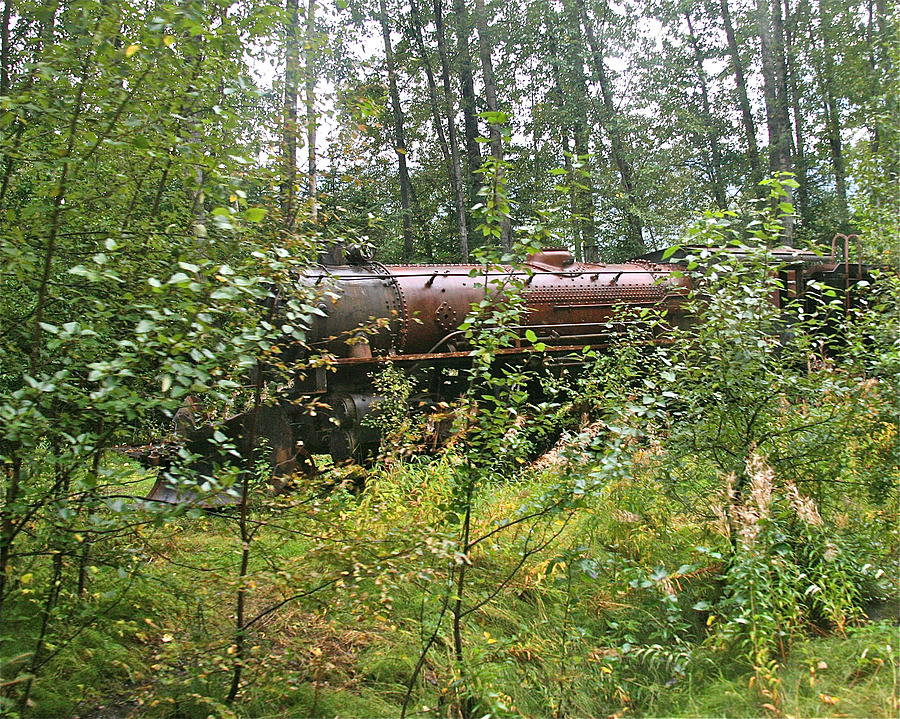 Train Photograph - Forgotten Train Engine by Robert Joseph