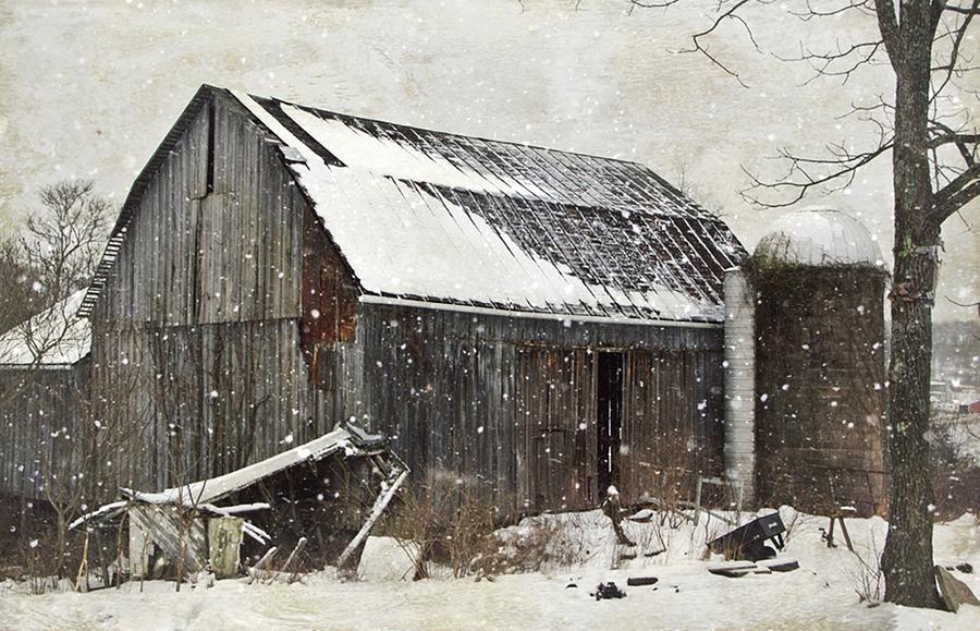 Old Barn Photograph - Forgotten Treasures by Stephanie Calhoun
