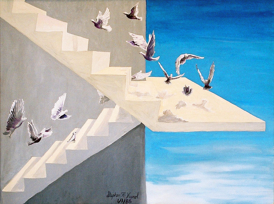 Birds Painting - Form Without Function by Steve Karol