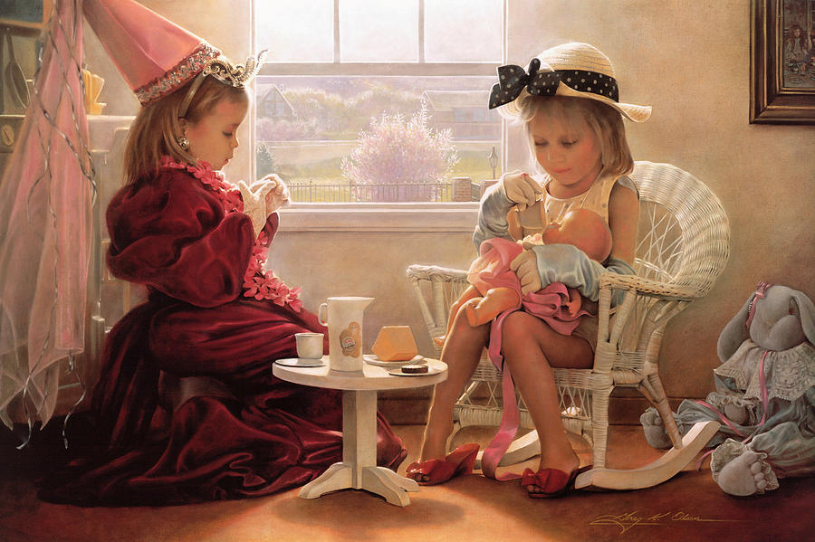 Girls Painting - Formal Luncheon by Greg Olsen