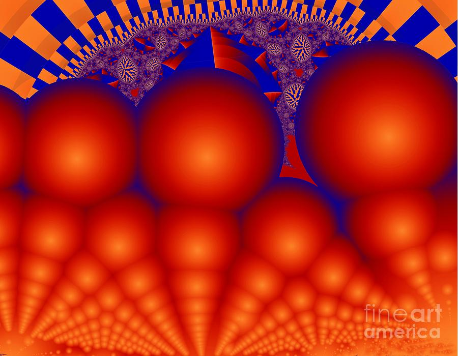 Red Ball Digital Art - Formation Of Red Orbs by Ron Bissett