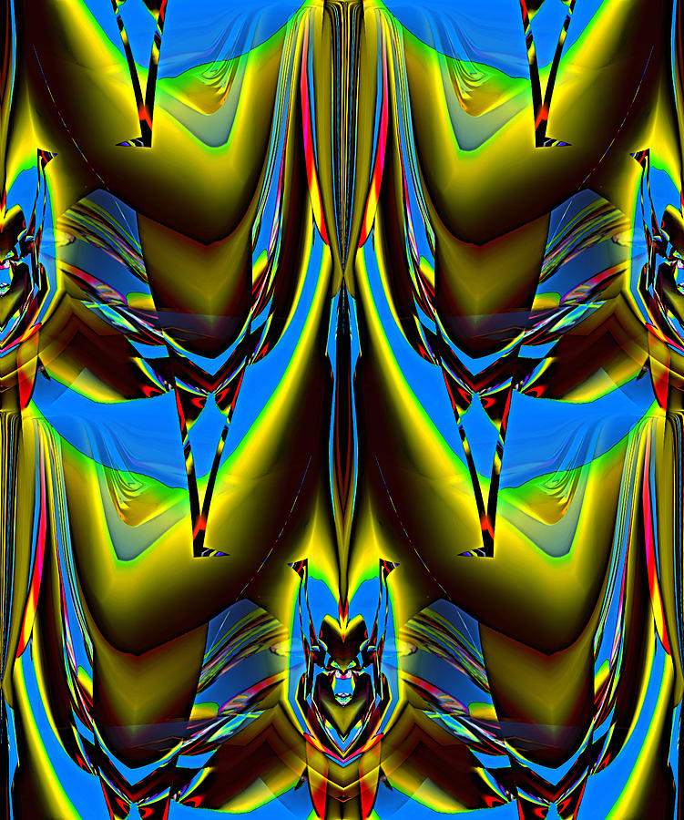 Abstract Digital Art - Forms  20 by Alfred Kazaniwskyj