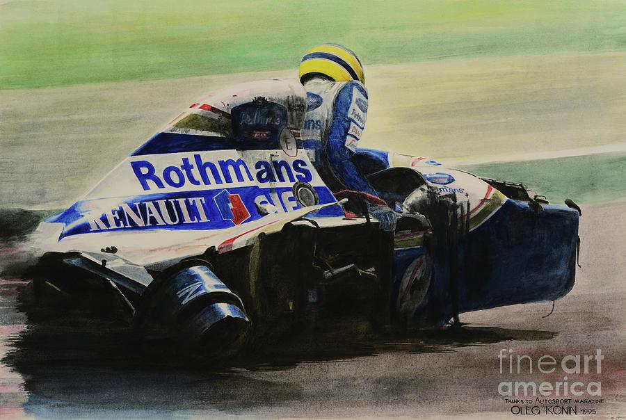 Formula One Painting - Formula - Alone by Oleg Konin