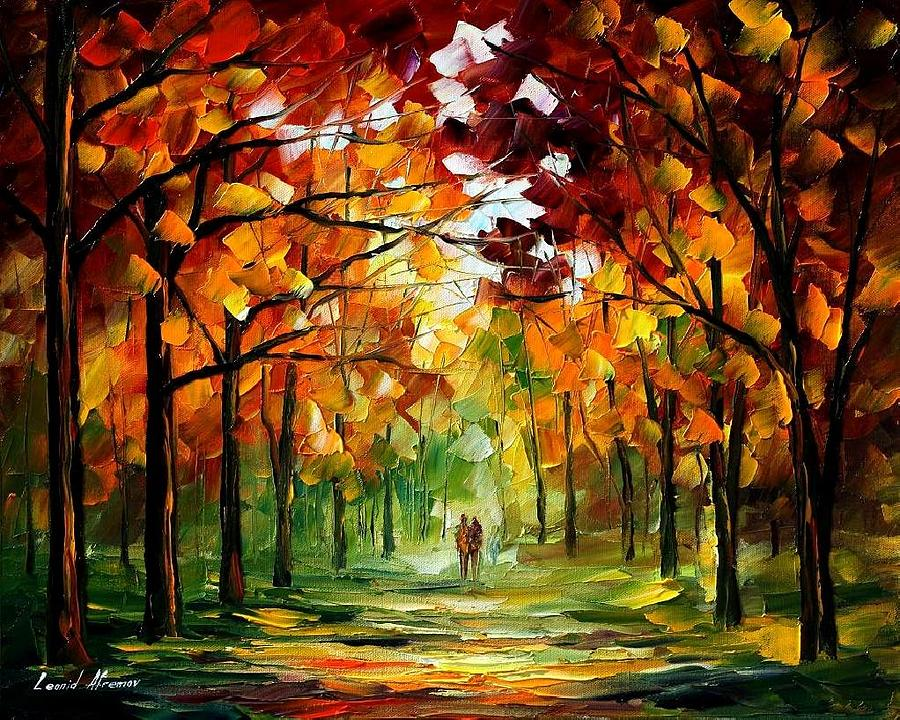 Colorful Painting - Forrest Of Dreams by Leonid Afremov