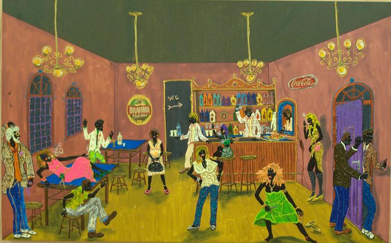 Cabaret Painting - Forrobodo by Luiz Roberto Rocha Maia