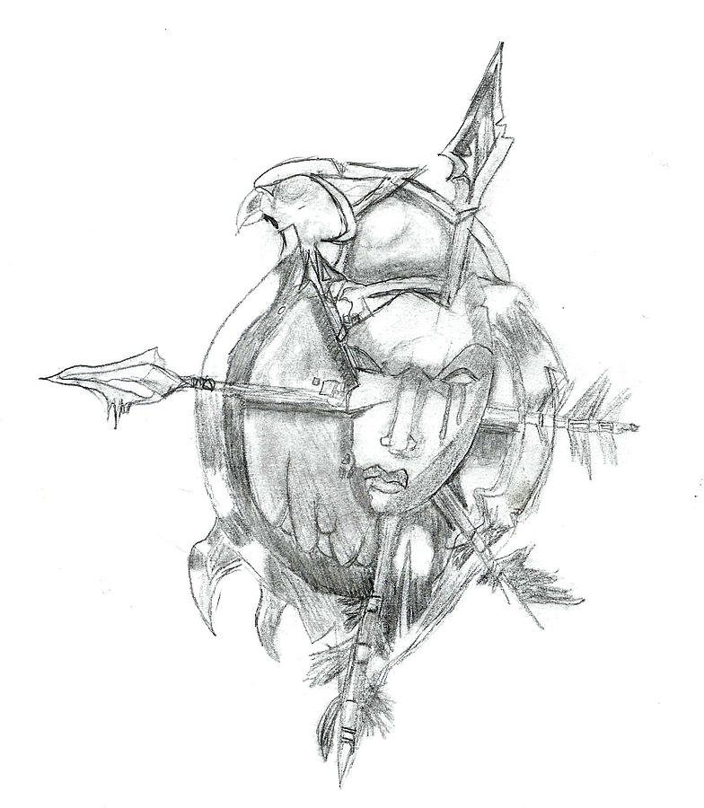 World Of Warcraft Drawing - Forsaken Symbol by Zach Rodgers
