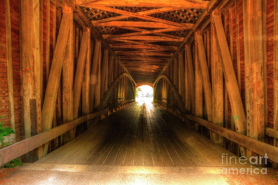 Covered Bridge Photograph - Forsythe Covered Bridge by Paul Lindner