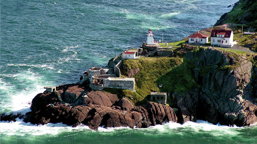 Lighthouse Photograph - Fort Amherst At St. Johns New Foundland by William Bitman