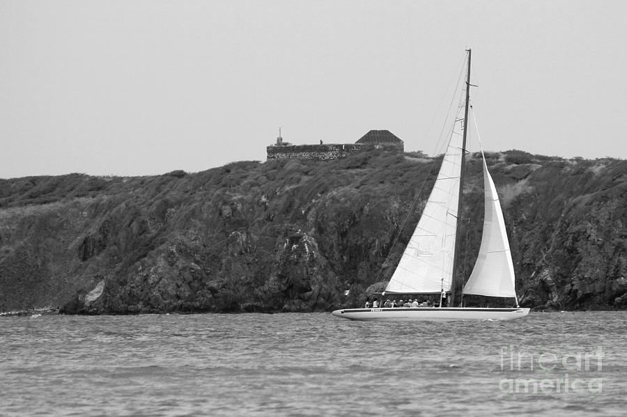 For Sale Photograph - Fort Amsterdam Sailboat by Robert Wilder Jr