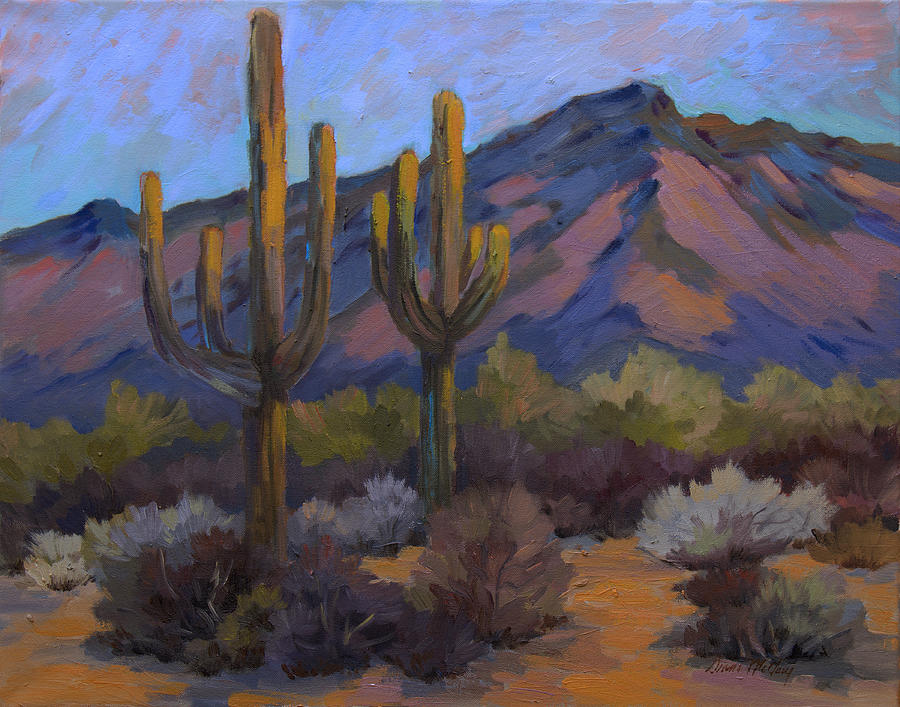 Fort Apache Painting - Fort Apache Junction by Diane McClary