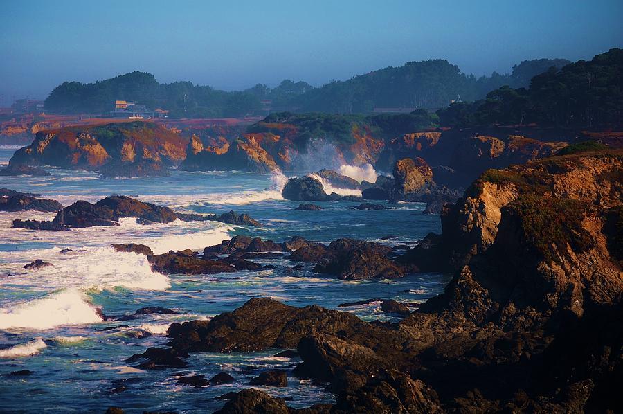 Fort Bragg Photograph - Fort Bragg Coastline by Helen Carson