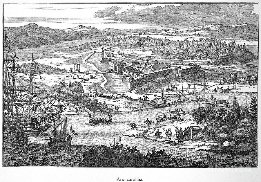 1673 Photograph - Fort Caroline, 1673 by Granger
