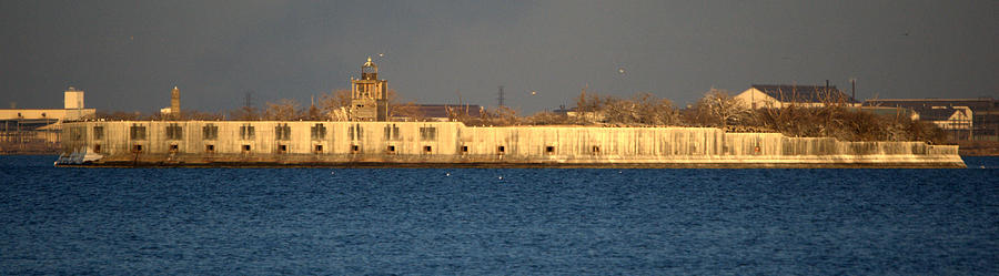 Fort Photograph - Fort Carroll Patapsco River Maryland by Wayne Higgs