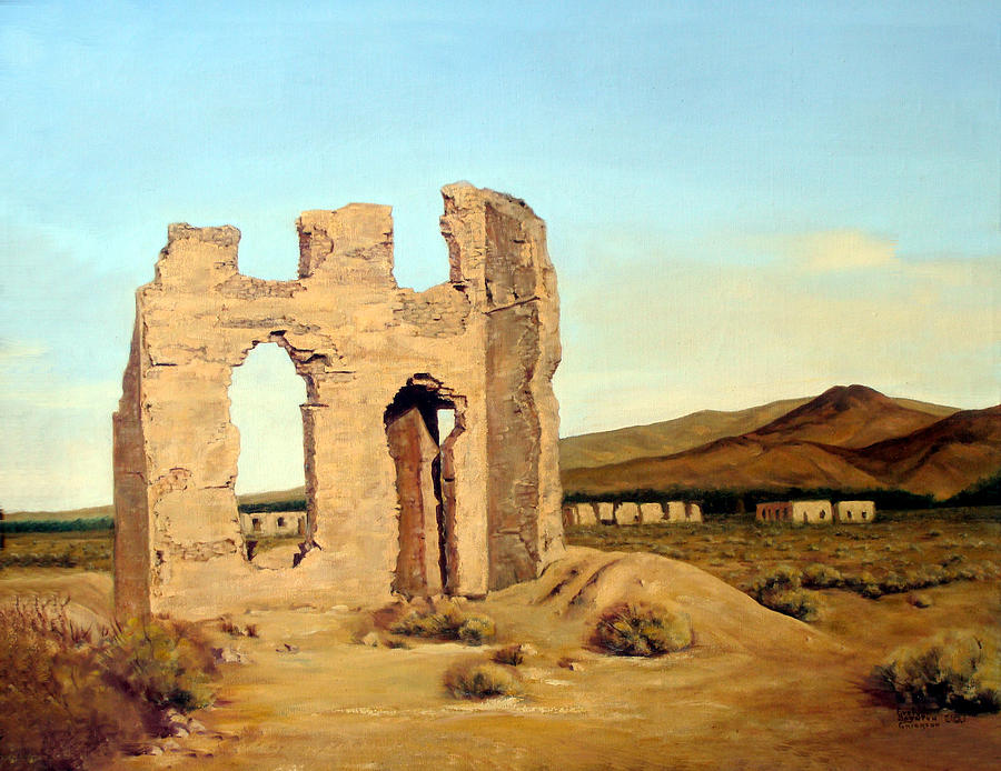 West Painting - Fort Churchill Nevada by Evelyne Boynton Grierson