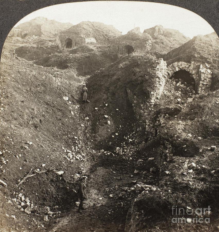 1914 Photograph - Fort De La Malmaison by Granger