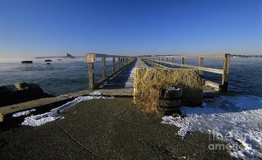 Wharf Photograph - Fort Foster - Kittery Maine Usa by Erin Paul Donovan
