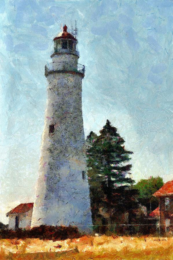 Lighthouse Photograph - Fort Gratiot Lighthouse - 1 by Darrell Foltz