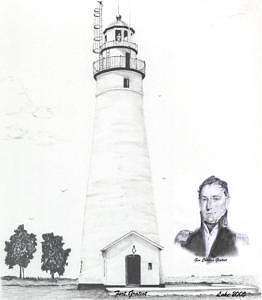 Lighthouse Drawing - Fort Gratiot Lt  Gen Gratiot by Luke Lauch