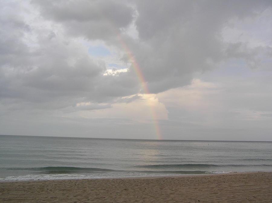 Beach Photograph - Fort Lauderdale Rainbow by Patricia Piffath