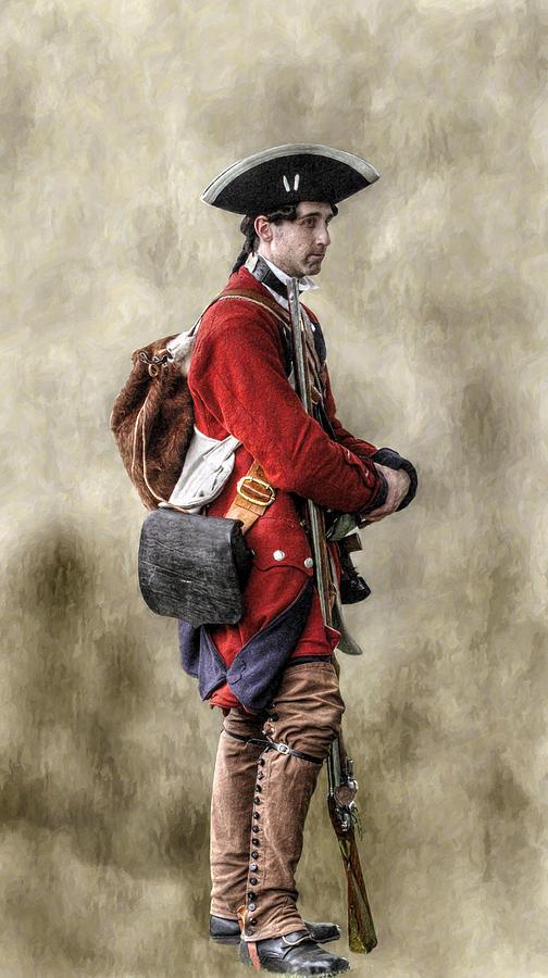 Uniform Digital Art - Fort Ligonier Sentry  by Randy Steele