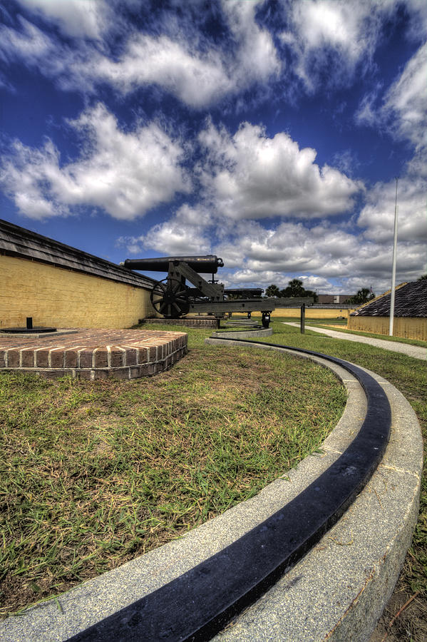 Fort Photograph - Fort Moultrie Cannon Rails by Dustin K Ryan