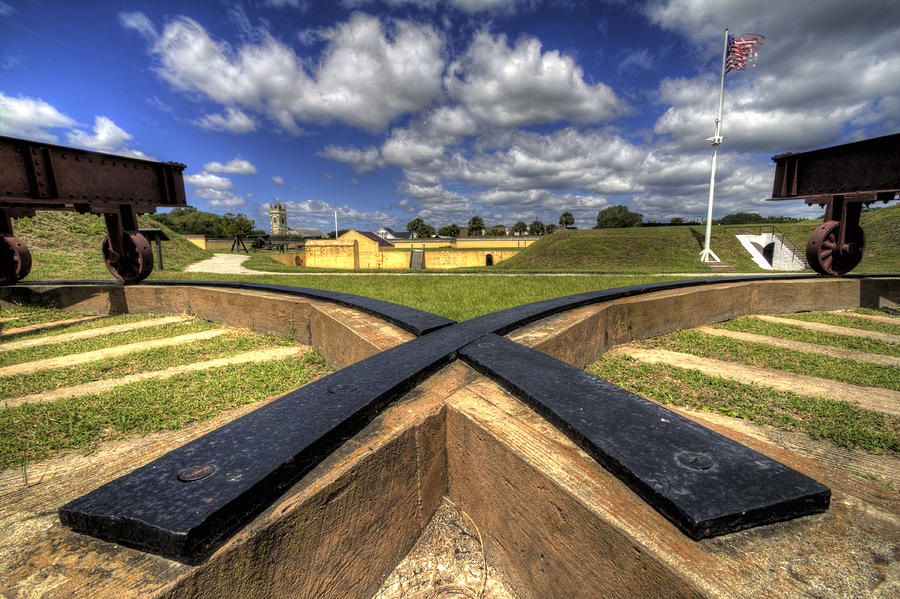 Fort Photograph - Fort Moultrie Cannon Tracks by Dustin K Ryan
