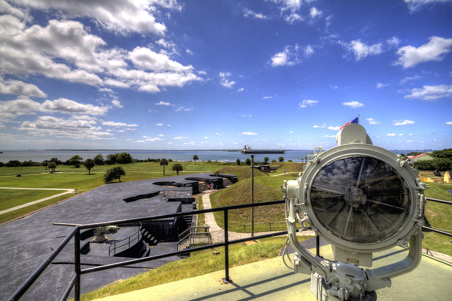 Fort Photograph - Fort Moultrie Signal Light by Dustin K Ryan
