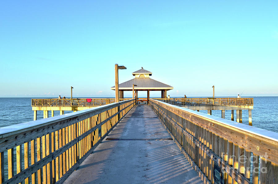 fort myers beach florida fishing pier photograph by