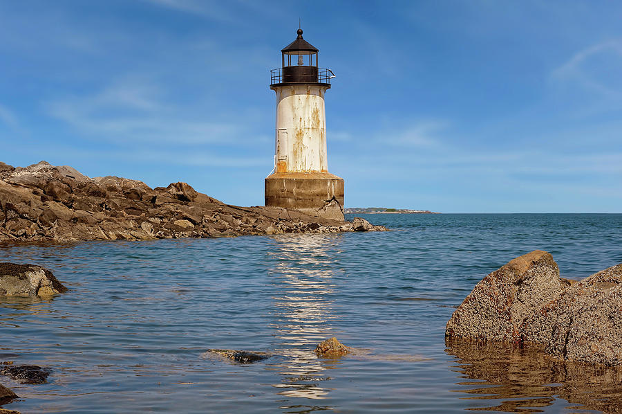 Architecture Photograph - Fort Pickering Lighthouse  -  Fortpickeringlight1871salem185107 by Frank J Benz