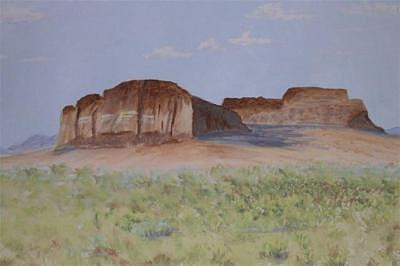 Fort Rock Oregon Painting by Dora Gourley