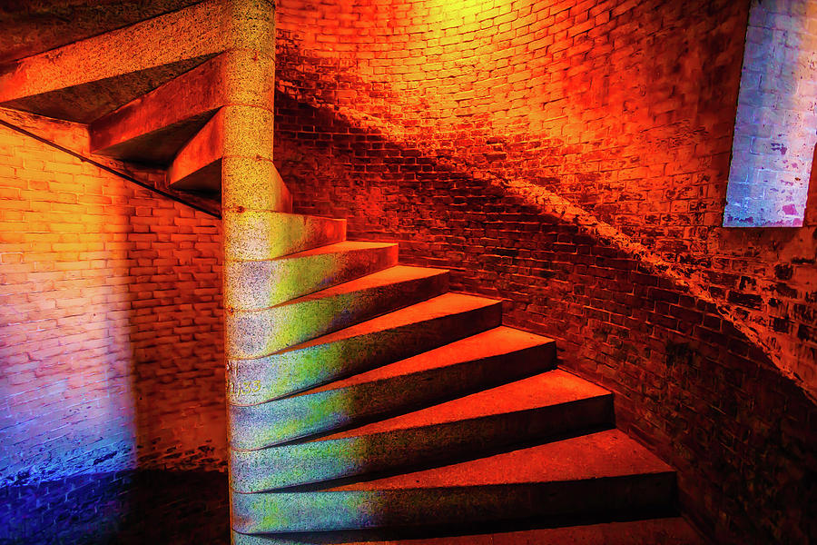 Brick Photograph - Fort Staircase by Garry Gay