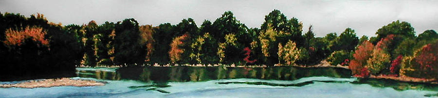 Landscape Painting - Fort Toulouse Coosa River by Beth Parrish