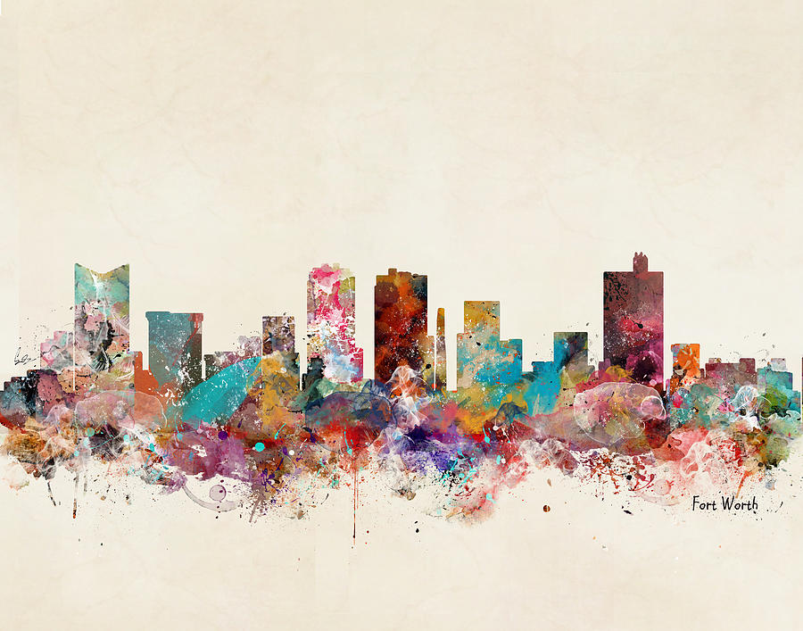 Fort Worth Texas Painting - Fort Worth Texas by Bri Buckley