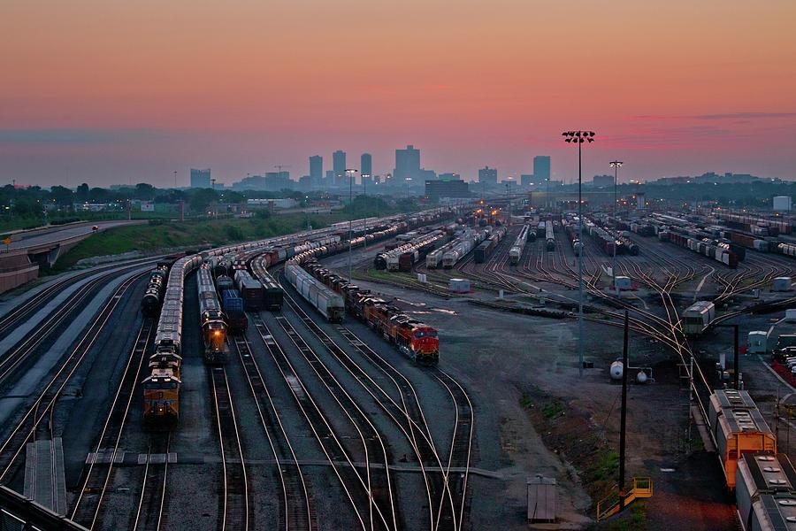 Railyard Digital Art - Fort Worth Trainyards by Linda Unger