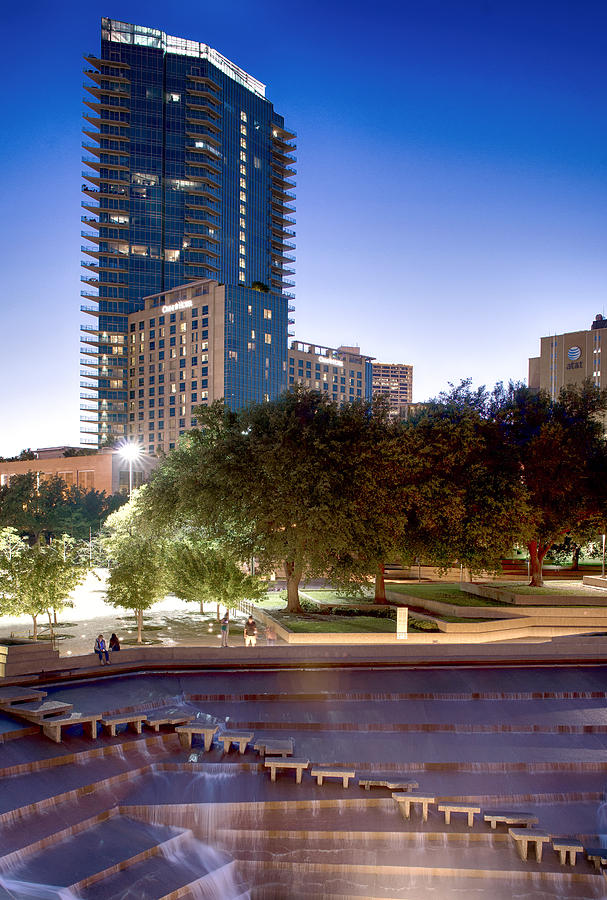 Fort Worth Water Gardens Omni by Rospotte Photography